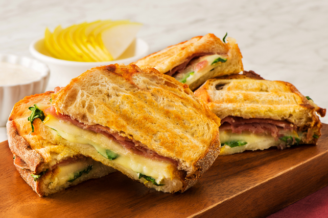 Grilled Pear, Prosciutto and Blue Cheese Panini Image 1