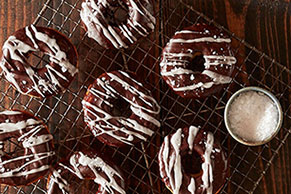 Chocolate-Glazed Mochi Doughnuts