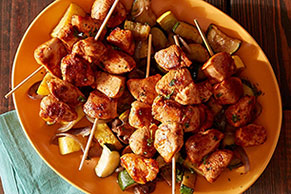 Spicy Harissa Chicken Kebabs