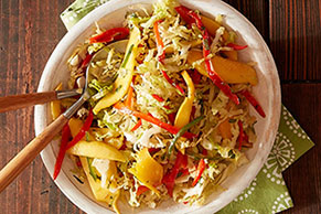 Mango Slaw with Roasted Garlic Lime Dressing