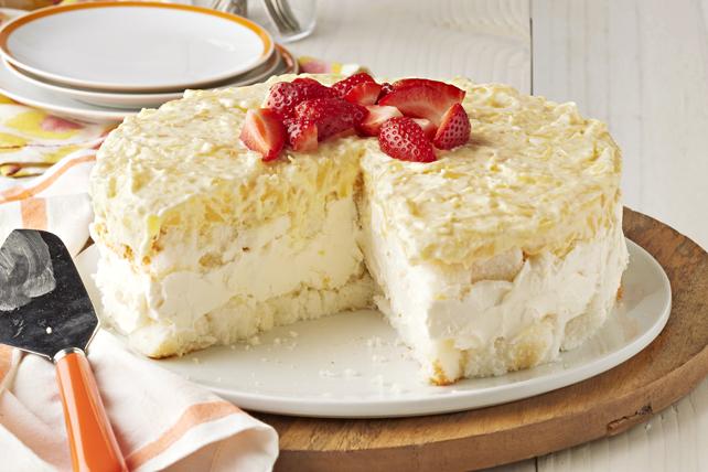 Dessert en gâteau au fromage et à l'ananas sans cuisson Image 1