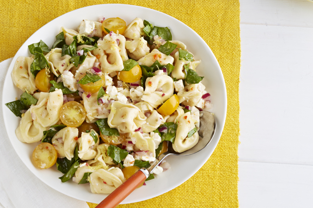 Salade citronnée de tortellinis et d'épinards Image 1