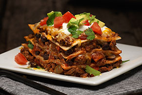 Cheesy Mexican Lasagna