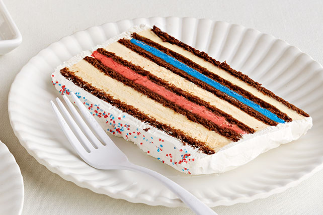 Red| White & Blue Ice Cream Cake