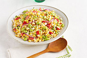Edamame & Grilled Corn Salad