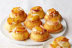 Peaches & Cream Mini Upside-Down Cakes