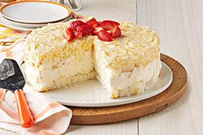 Postre sin hornear de cheesecake de piña