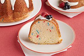 Patriotic Confetti Pound Cake