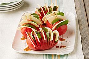 Hasselback Caprese Tomatoes
