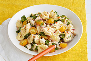 Lemony Tortellini-Spinach Salad