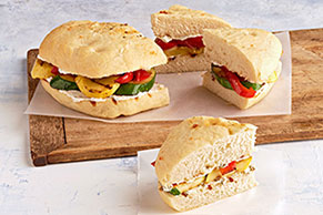 Grilled-Vegetable Focaccia Wedges
