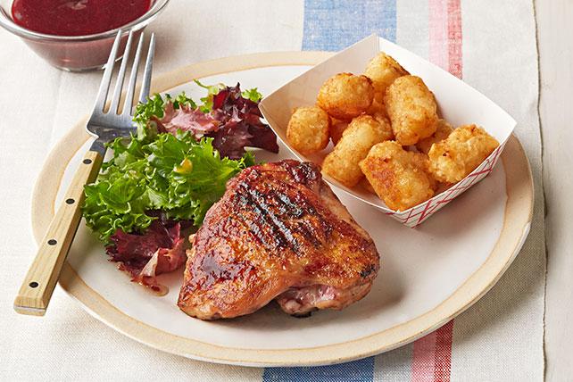 Cena de pollo con zarzamoras y salsa para asar Image 1