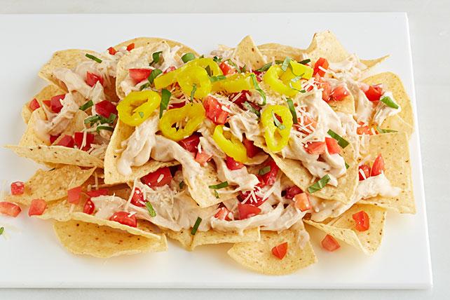 Nachos con pollo en salsa Alfredo Image 1