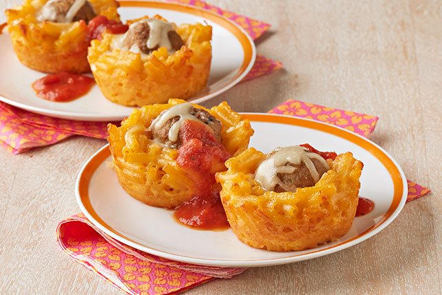 Mini Mac & Cheese Meatball Cups