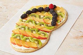 Sandalia playera de galletas y fruta