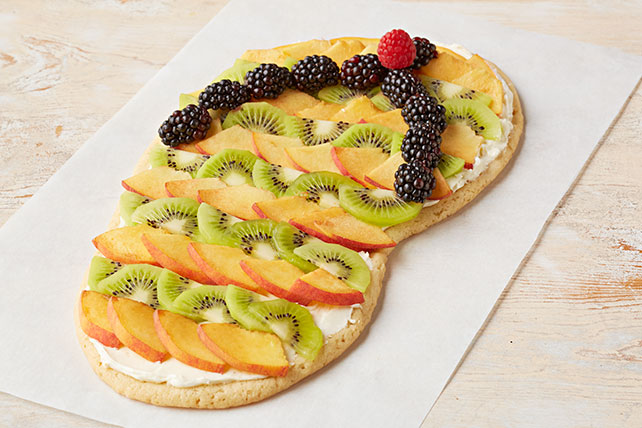 Sandalia playera de galletas y fruta Image 1