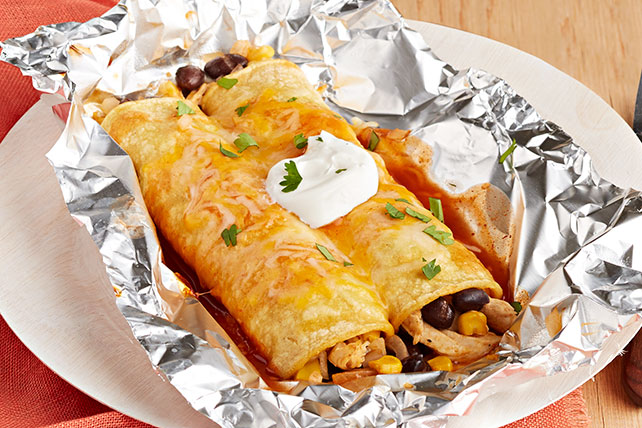 Foil-Pack Chicken Enchiladas