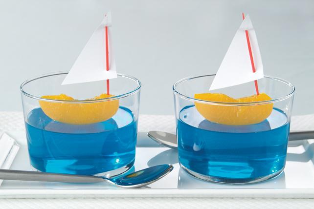 Voiliers sur de l'eau Bleu fruité Image 1