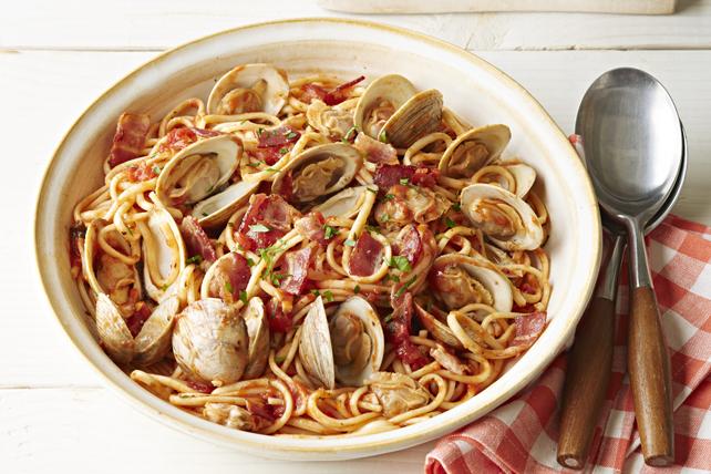 Linguines marinara avec palourdes et bacon Image 1