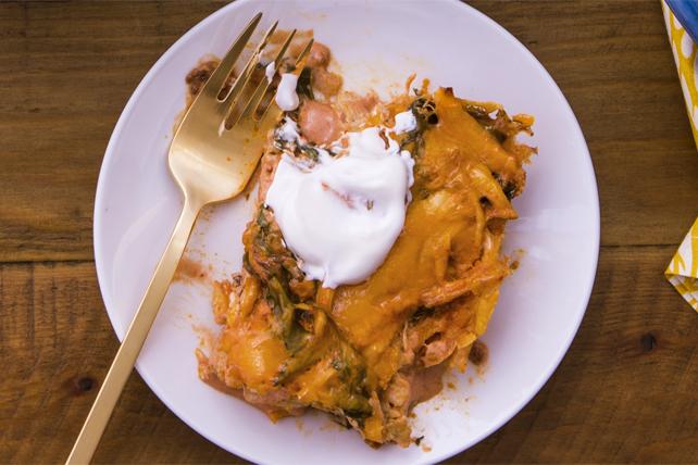 Casserole de poulet, d'épinards et de chipotles façon enchiladas Image 1