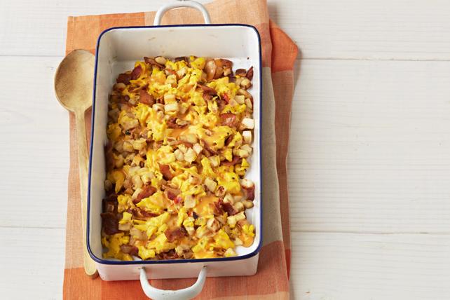 Pommes de terre rissolées au bacon et aux œufs Image 1