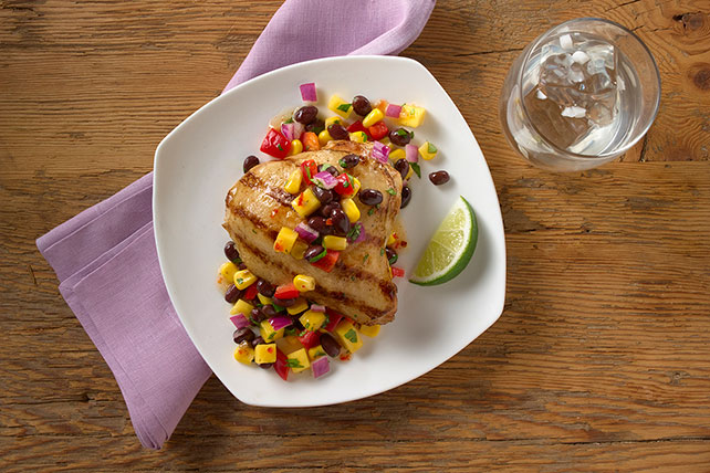 Grilled Adobo Chicken with Black Bean and Mango Salsa Image 1