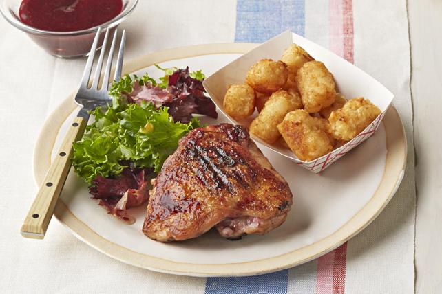 Repas de poulet barbecue aux mûres Image 1