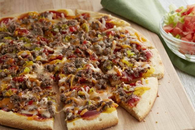 Pizza éclair façon burger au fromage  Image 1
