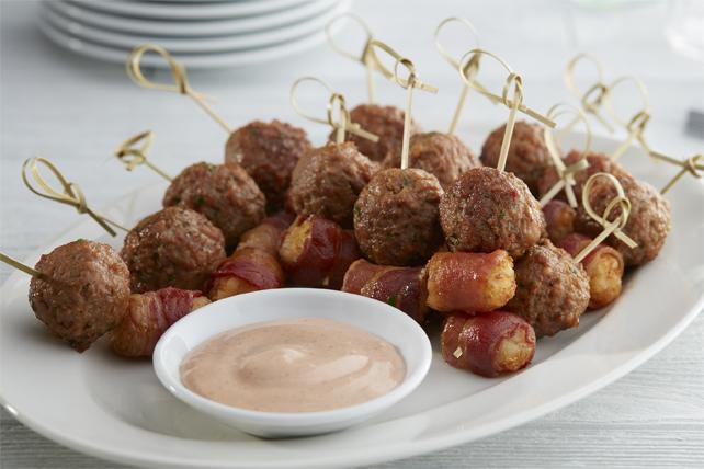 Bouchées aux pépites de pomme de terre et aux boulettes de viande Image 1