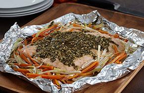 Baked Pesto Salmon