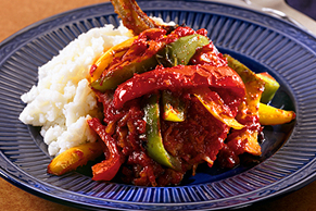 Braised Pork Chops with Peppers
