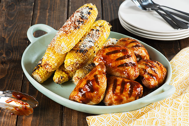 Wood-Smoked BBQ Chicken Thighs with Spicy Charred Corn Image 1
