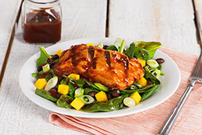 Spicy BBQ Salmon and Mango Salad
