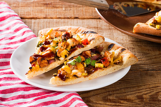Grilled BBQ Chicken and Vegetable Pizza Image 1