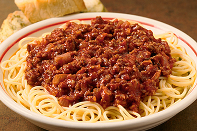 Classic Spaghetti and Meat Sauce Image 1