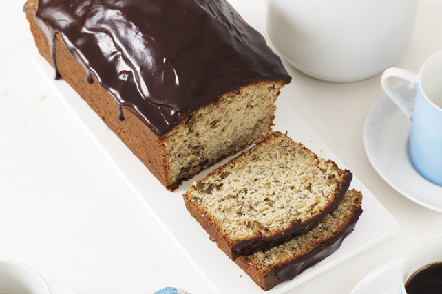Chocolate-Glazed Banana Bread Image 1