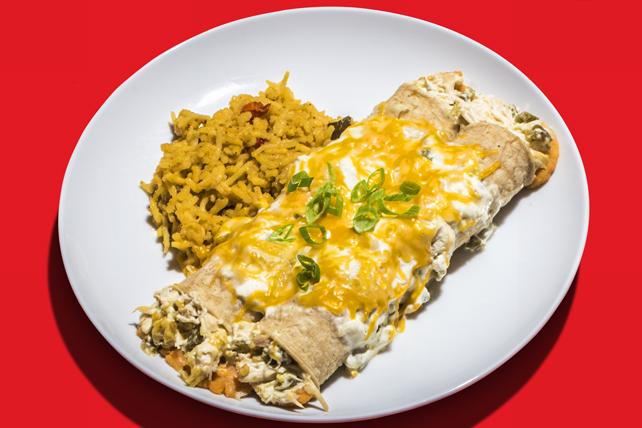 Chicken & Sweet Potato Enchiladas Verde Image 1