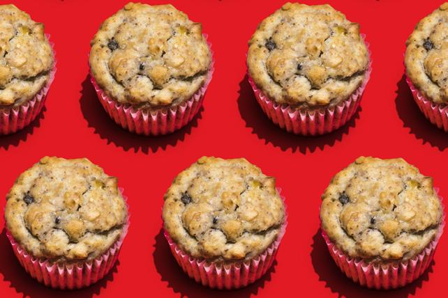 Muffins façon pain aux bananes, aux noix et aux graines de lin  Image 1