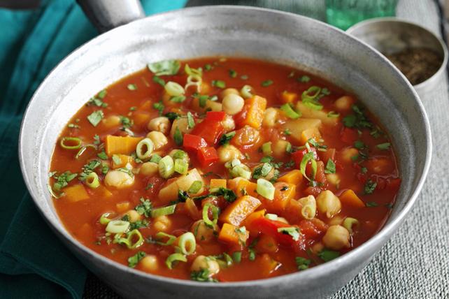 Ragoût de tomates, de courge musquée et de pois chiches Image 1