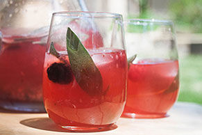 Double Berry-Sage Lemonade