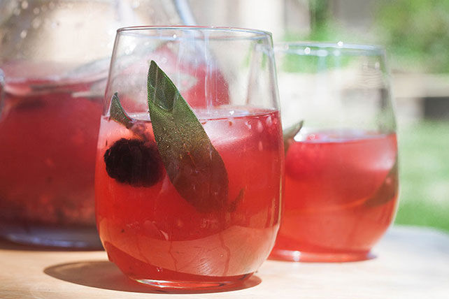 healthy fruit punch sage fruit