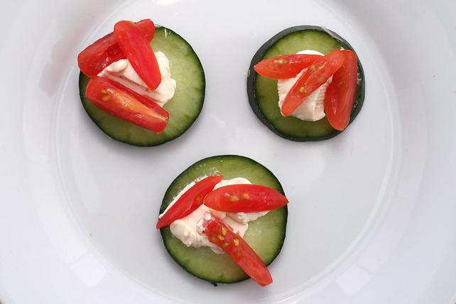 Bouchées croquantes au concombre et à la tomate Image 1