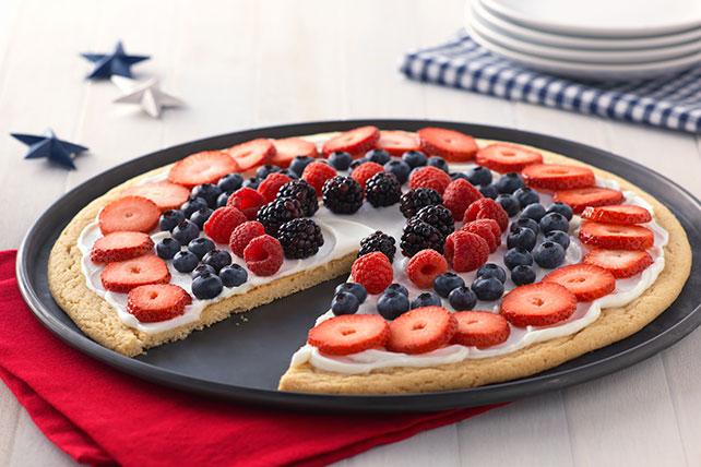 Fácil pizza patriótica de frutas  Image 1