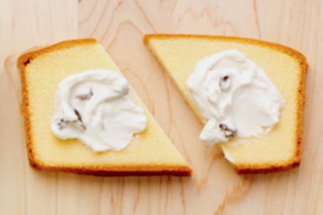 Collation au gâteau quatre-quarts et à la poire Image 1