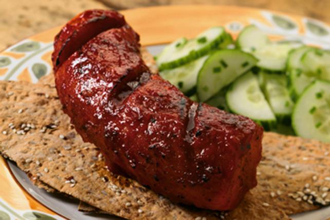 Saucisses kielbassa grillées à la sauce barbecue au cari Image 1