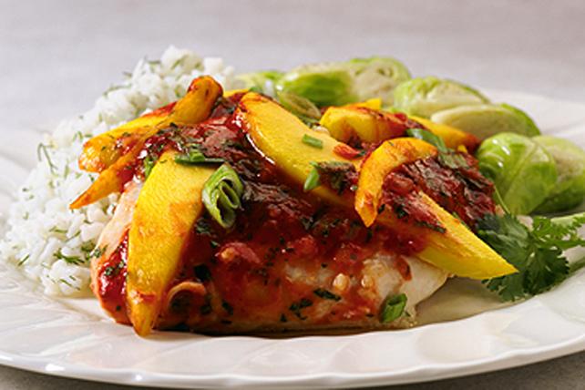 Flétan cuit en papillote et salsa Image 1
