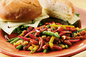 Rainbow Bean Salad