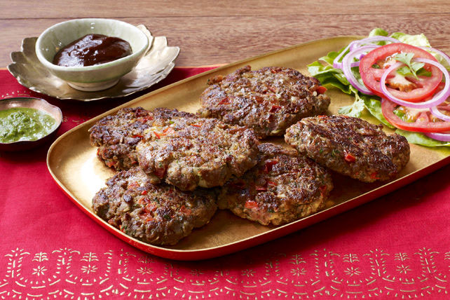 Spicy Indian-Style Burger Bites Image 1