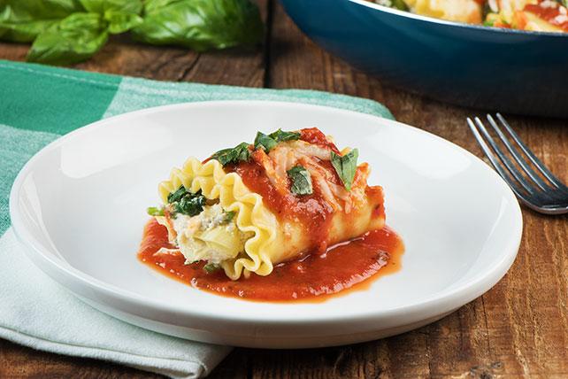 Spinach-Artichoke Lasagna Roll-Ups Image 1