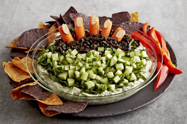 Creepy Halloween Pesto Dip Image 1